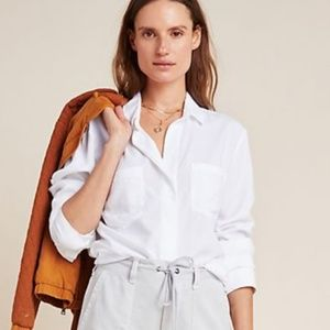 Cloth and Stone White Button Down from Anthro